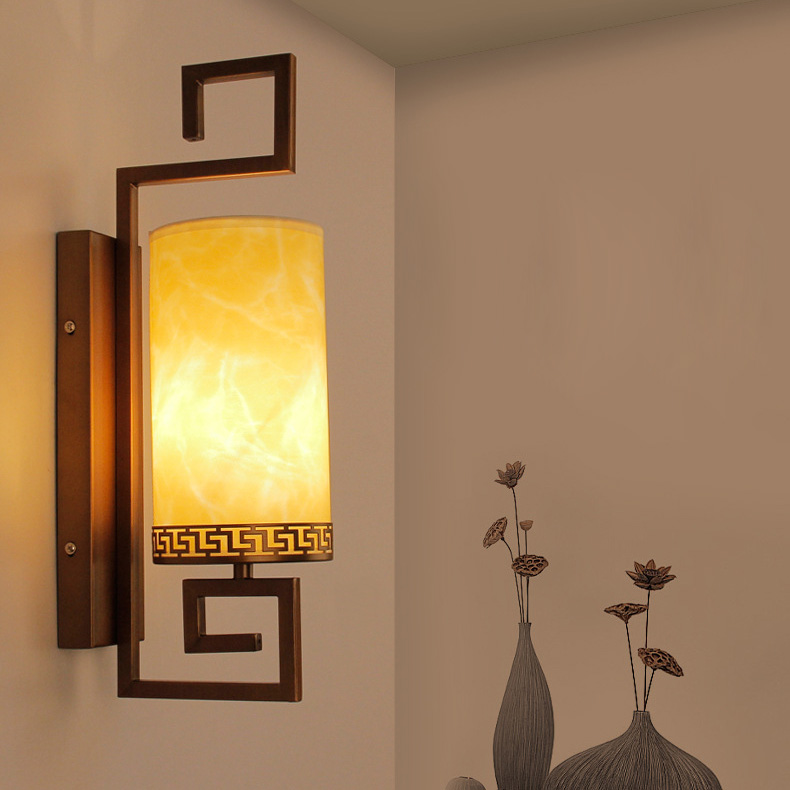 8w 16w Led Wall Sconce Light Fixture E27 Bulb Chinese Retro Bedside Lamp Bronze Black Shell Warm White Hallway Living Room In Indoor Lamps From