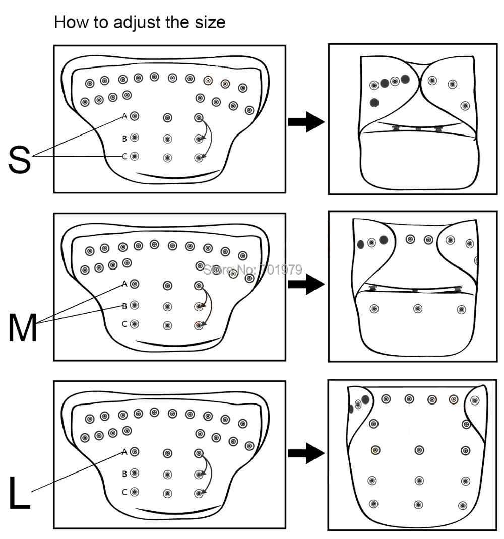 U Memilih Alva Bayi Satu Ukuran Cocok untuk Semua Dapat Digunakan Kembali Bayi Popok Kain dengan 1Pc Microfiber Insert untuk Unisex