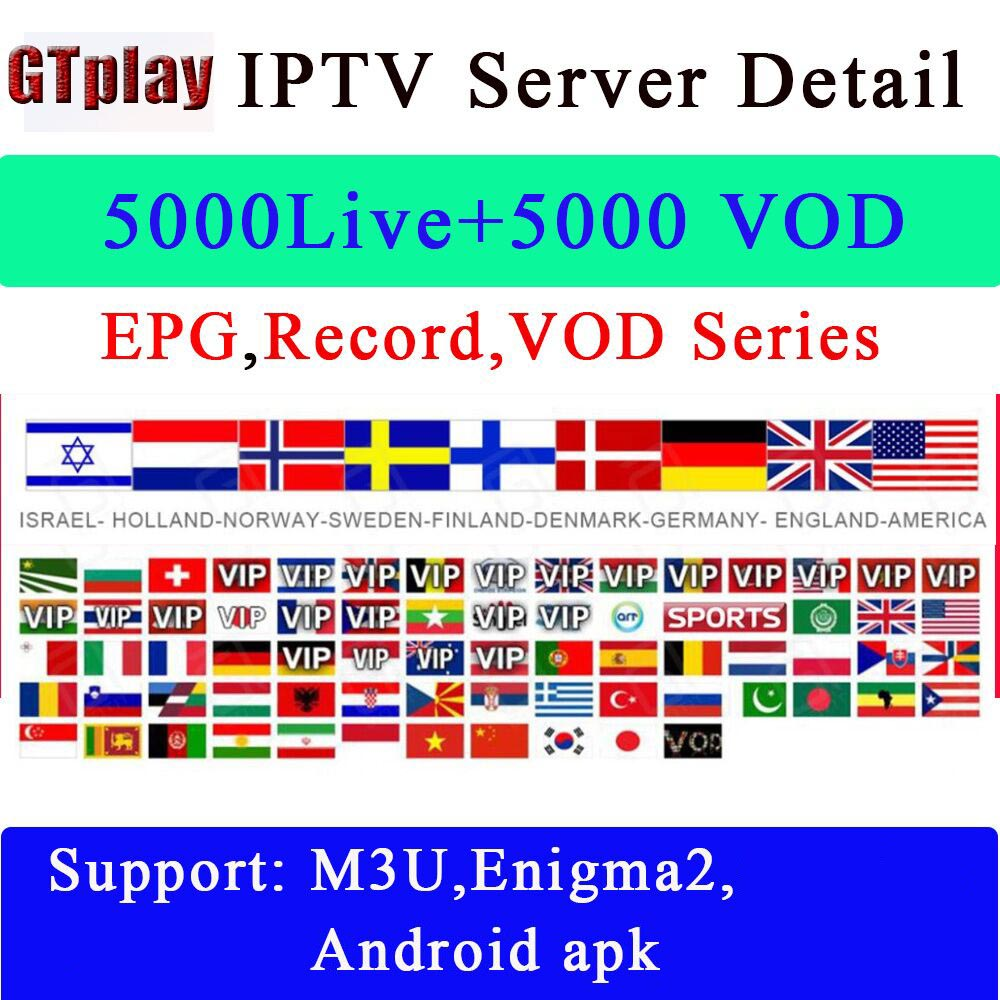 IPTV M3u Subscription Iptv Italy UK German French Spanish Medset Premium For Android Box Enigma2 for 6 months
