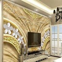 beibehang Custom large fresco European palace luxury silk backdrop nonwovens environmental wallpaper papel de parede para quarto