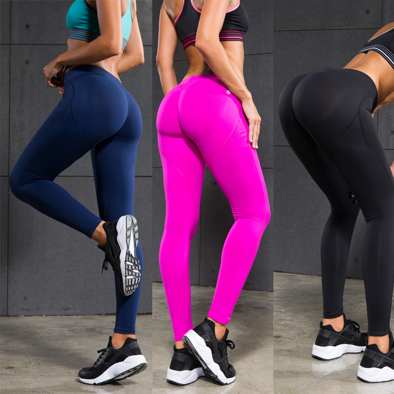 0c29fc465c Women Yoga Pants Sports Exercise Tights Fitness Running Jogging Trousers  Gym Slim Compression Pants Leggings Sexy Hips Push Up