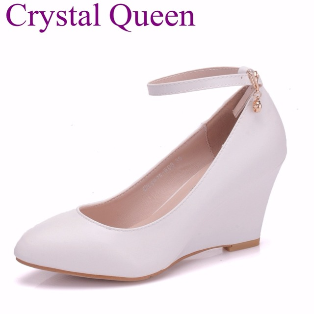 White Elegant Wedges Shoes Summer Casual Sandals For Women Platform High  Heels Round Toe High Heels Shoes Mary Jane Wedges Shoes 4eb92d95bea6