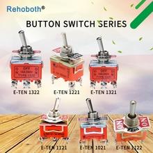 1PCS 15A 250V toggle switch 6 pin head 3 grade switch double pole double throw toggle switch nkk toggle switch m 2013 6a125vac 3 feet 3 files