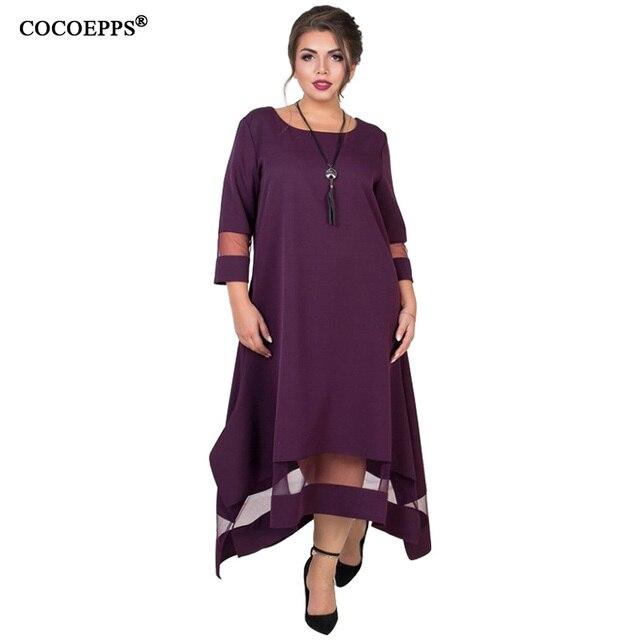 A Line 5xl 6xl Plus Size Winter Dress Mesh Elegant Women Dress Large Size Long Maxi Dress Evening Party Big Size vestidos 2019 3