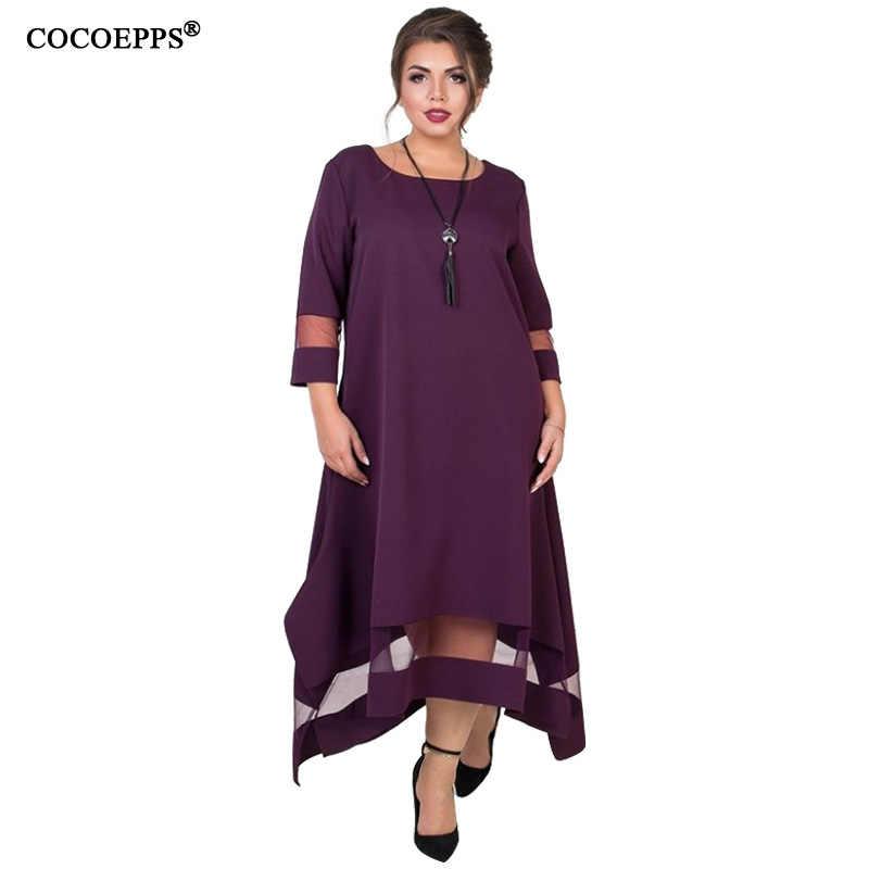 17e1d53277a ... A Line 5xl 6xl Plus Size Winter Dress Mesh Elegant Women Dress Large  Size Long Maxi ...