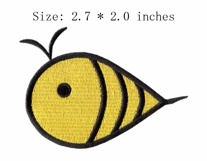 """Baleia bordado patch 2.7 """"wide/Amarelo patch/bonito/produção em massa"""
