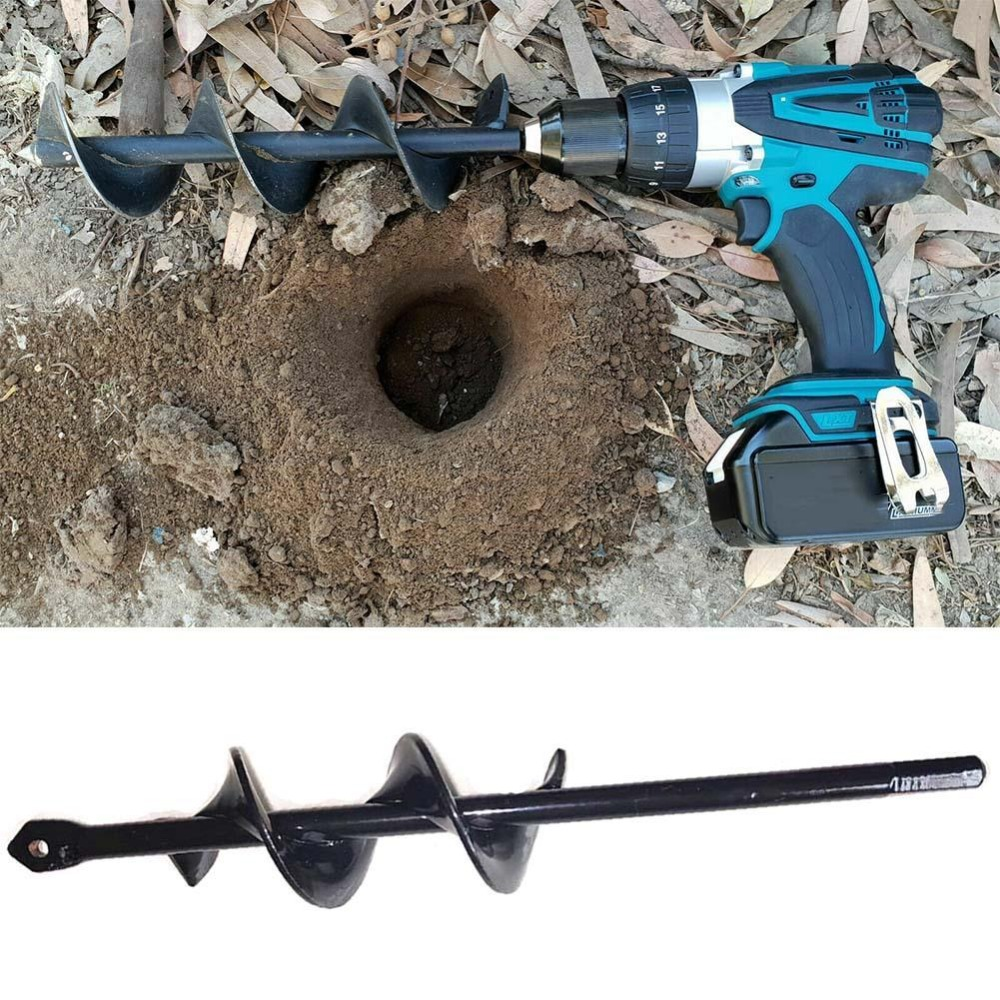 KITPIPI Hand Drill Charge Electric Drill Ground Irrigating Auger Drill Bit Digs Hole