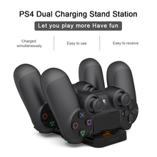 New Controller Double Handle Wireless Chargers Dual USB Charging Dock Station Stand for Playstation 4 PS4 With Retail Box Black