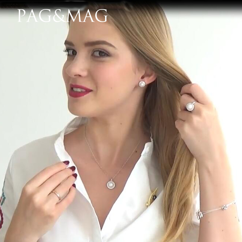 PAG & MAG Märke Classic Round Disk 925 Sterling Silver Smycken En - Fina smycken - Foto 3
