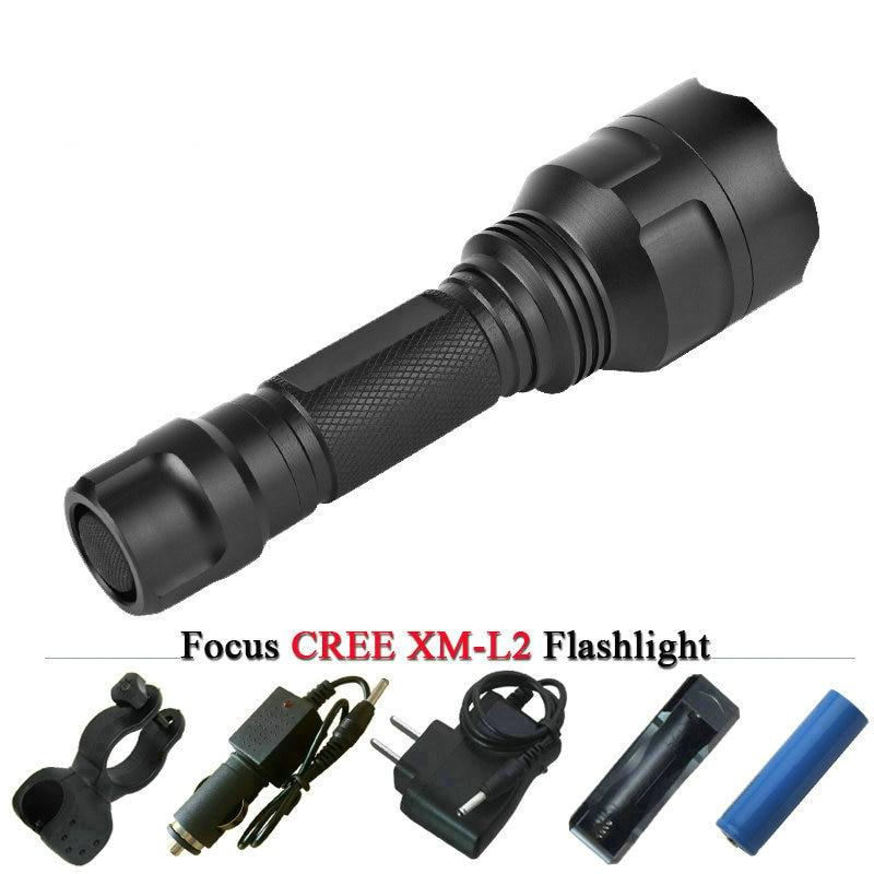 CREE XM L2 T6 3800 ml Potente torcia A LED X900 Torcia ricaricabile portatile lanterna impermeabile caccia lampada ricaricabile 18650