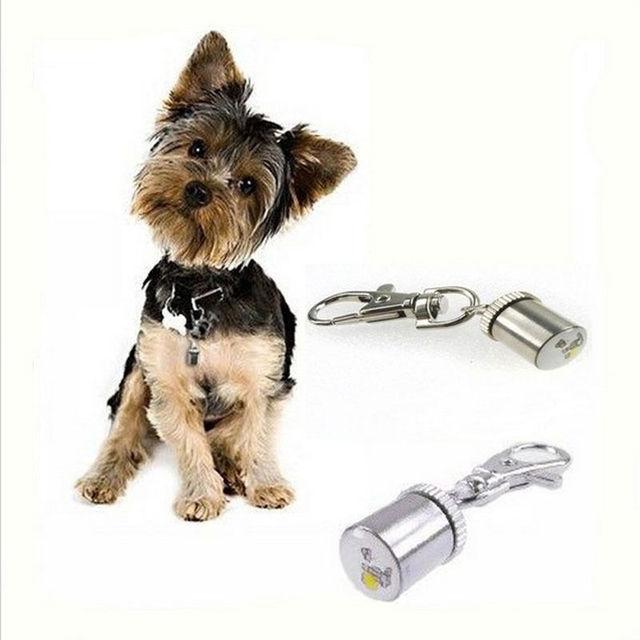 Cute Keychain Style Safety Flashing LED Light Pet Dog Collar Signal lamp