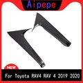 Для Toyota RAV4 RAV 4 2019 2020 задний спойлер из углеродного волокна треугольная формовочная крышка комплект отделка Аксессуары