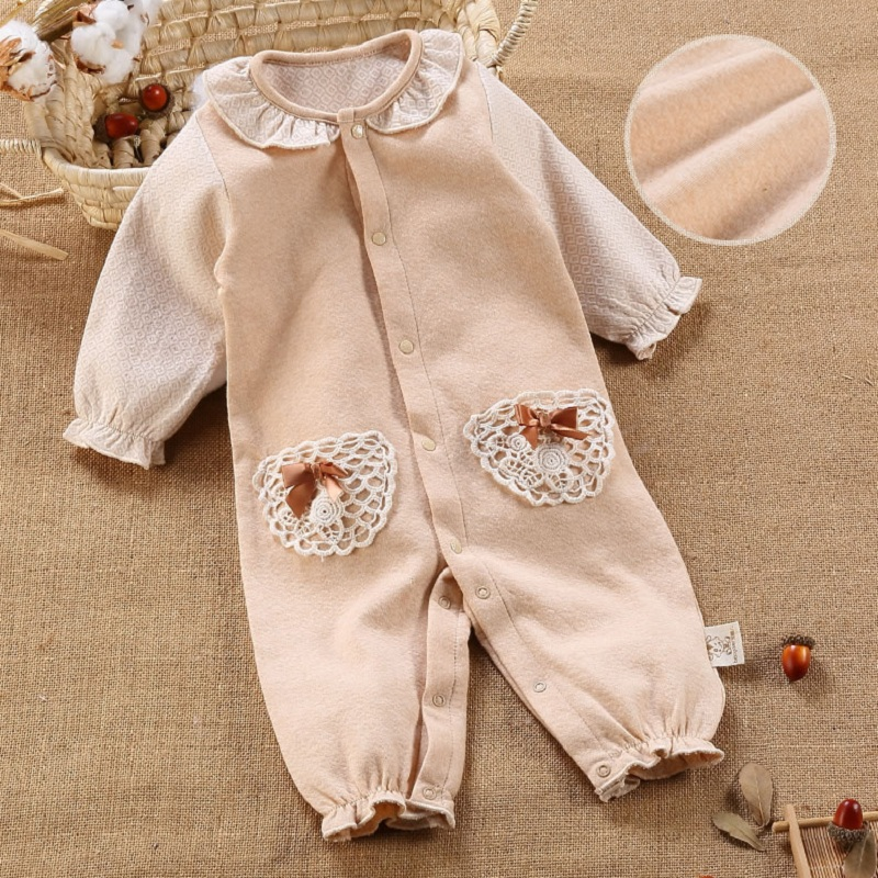 Newborn Baby Clothes Organic Cotton Ropa Bebe Jumpsuit Long Sleeve Baby Rompers Spring Infant Baby Girl Boy Romper Clothing0-24M autumn winter baby girl rompers striped cute infant jumpsuit ropa long sleeve thicken cotton girl romper hat toddler clothes