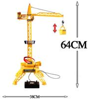 1 64 Electric Remote Control Tower Crane Cable Channel 4 Remote Control Engineering Toys Engineering Crane