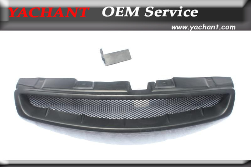Car Styling FRP Fiber Glass Front Grille Fit For 2003-2007 G35 2D Coupe JDM Style Front Grille Mesh