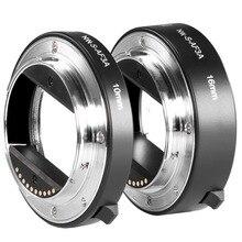 Neewer металлический AF Автофокус Макро Удлинитель Набор 10 мм и 16 мм для sony NEX E-mount для камеры NEX 3/5N/A6000 и полная Рамка A7/A7R