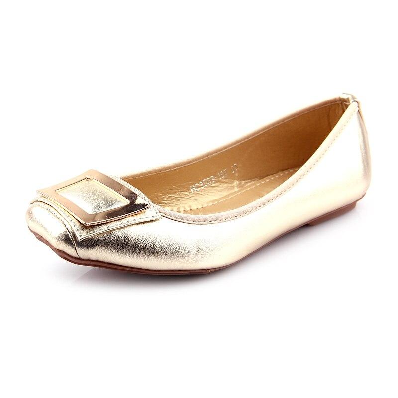 2018 Frauen Schuhe Boot Slip-on Damen Ballett Wohnungen Grund Mode Lässig Faulenzer Frau Bestseller Luxus Glanz Hohe Qualität