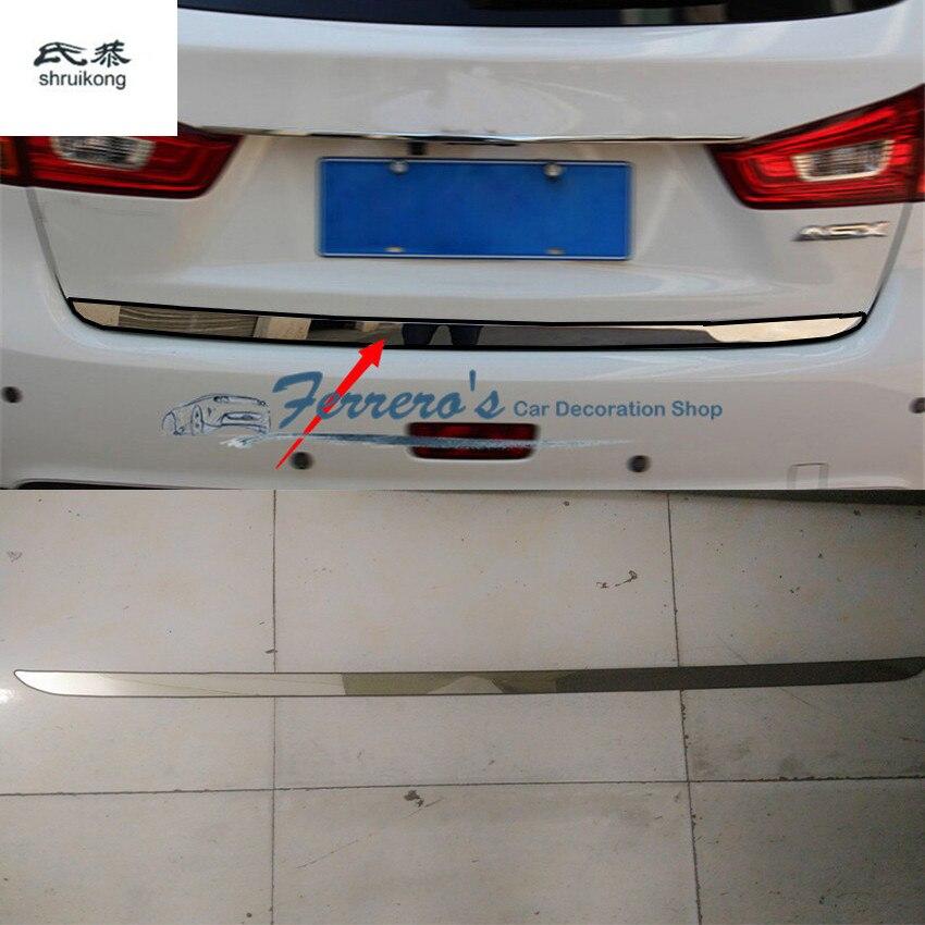 Бесплатная доставка 1 шт. автомобильный Стайлинг для 2011-2018 Mitsubishi ASX нержавеющая сталь задняя защита багажника украшение блестки
