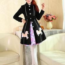 Милое зимнее милое пальто в стиле Лолиты; зимние длинные хлопковые пальто; все размеры