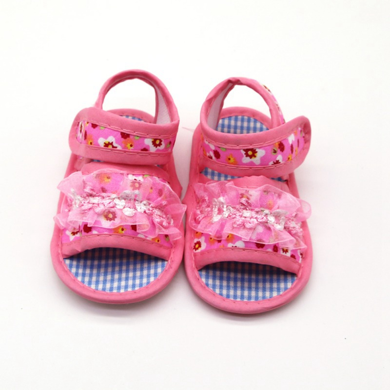 Flowers Sandals For Baby Girls Shoes Summer Fashion Newborn Cloth Cotton Toddler Sandals Princess Shoes