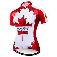 Canada Cycling jersey Women Bike jerseys Short Sleeve girls