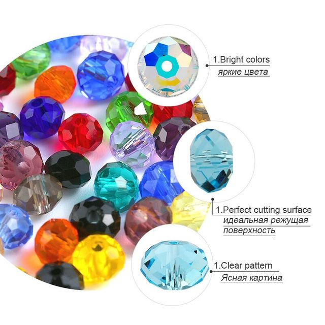 Buy 1 and Get 1 Free 4mm Glass Beads Round Crystal Beads Colorful Spacer Bead For Bracelet  Jewelry Making DIY Total 300PCS
