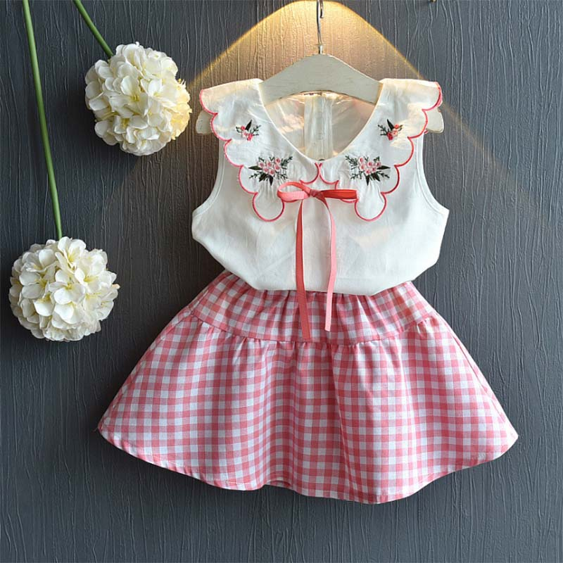 Summer season women clothes units 2019 youngsters style sleeveless tops+shirt gown 2pcs fits youngsters garments grils youngsters informal clothes Clothes Units, Low-cost Clothes Units, Summer season women clothes units...