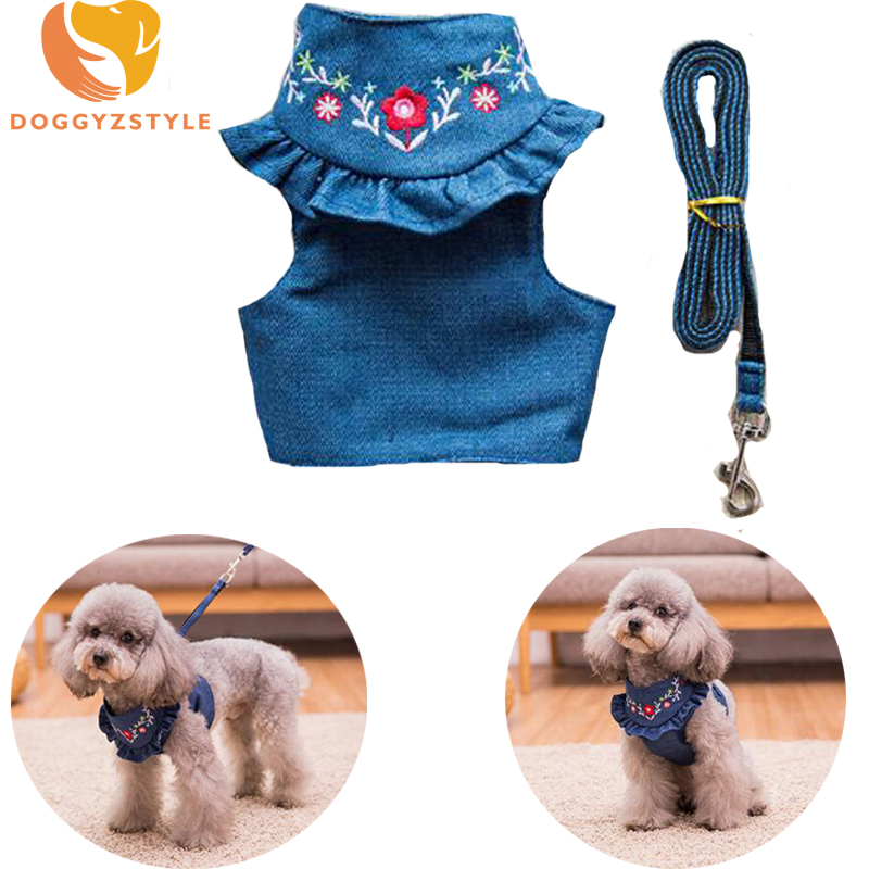 Hot Sale Cute Puppy Dog Harness And Walking Leads Set Pet Vest Strap Leash Set For Small Dogs Chihuahua Teddy S M Pet Traction Rope Suit To Be Distributed All Over The World Harnesses Dog Collars & Leads