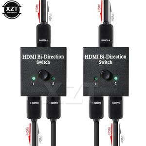 4K HDMI Switch 2 Ports Bi-directional 1x2 / 2x1 HDMI Switcher Splitter Ultra HD 1080P 3D HDR HDCP for PS4 Xbox HDTV(China)