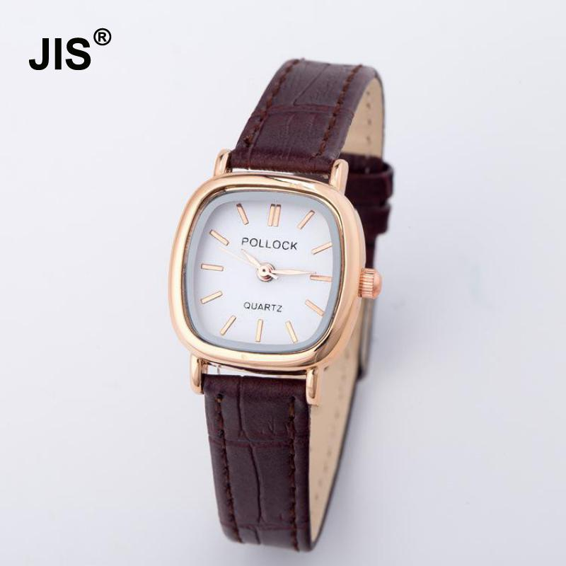 Luxury Vintage Small Dial Mini Watch Genuine Leather Black Brown Quartz Dress Wrist Watch Wristwatches for Women Students classic ulzzang brand vintage genuine leather women men lovers quartz wrist watch gift black white brown