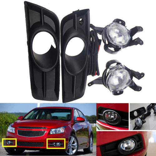 2Pcs Front Fog Lamp Lights Original For Chevrolet Cruze 2011-2014 чехол на сиденье skyway chevrolet cobalt седан ch2 2