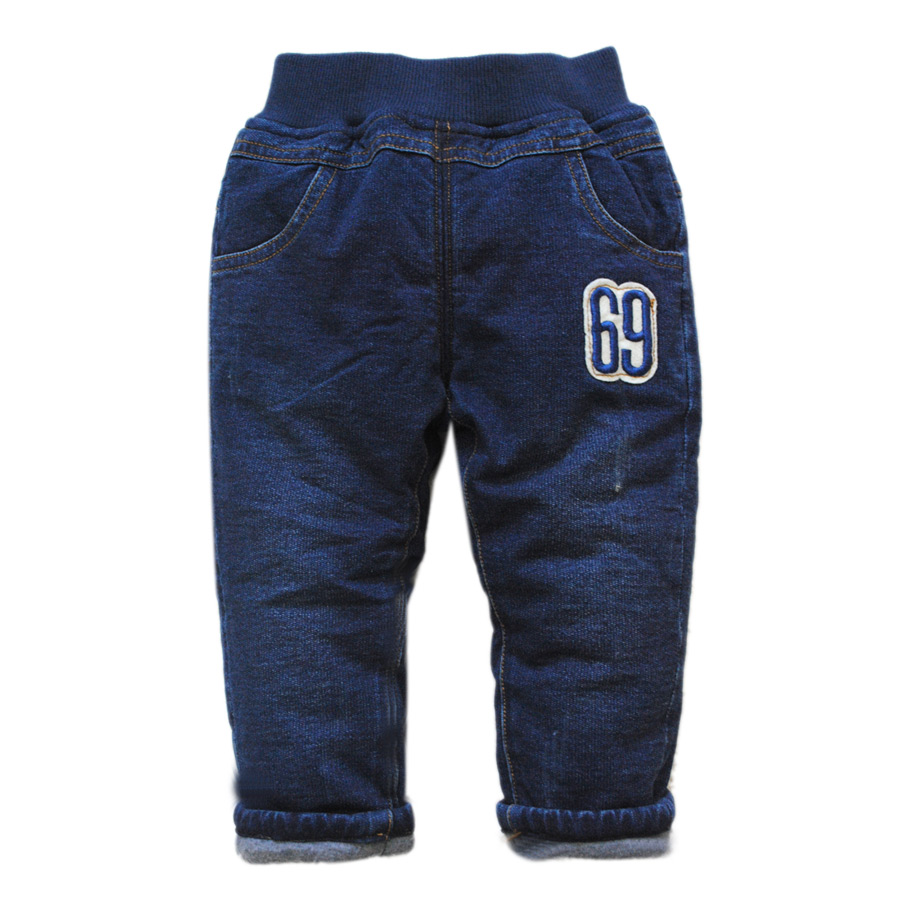 5926 very warm cotton-padded thick baby pants winter baby trousers kids boy jeans navy blue new boys girls unisex