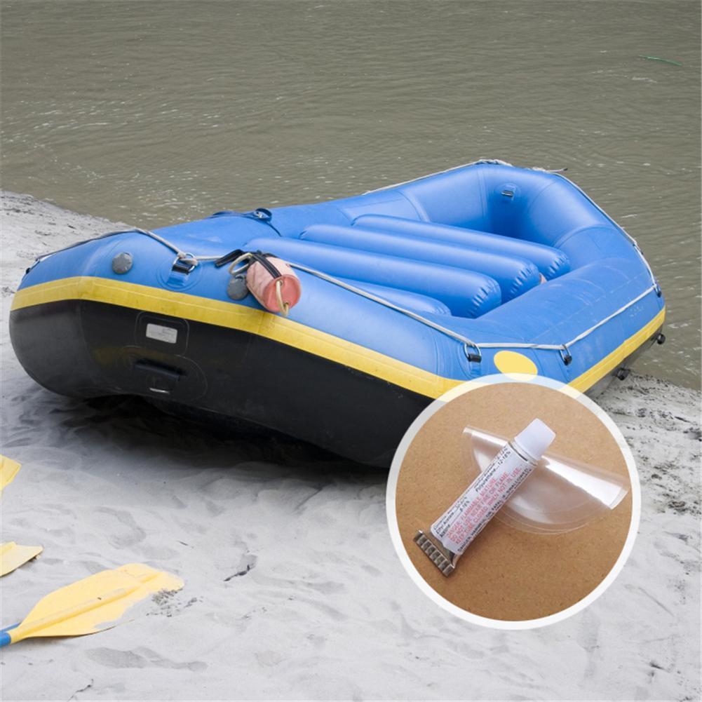 PVC Repair Glue + Patch Suitable For Swimming Ring Inflatable Mattress Dinghy Repair Inflatable Boat Kayak Repair Glue