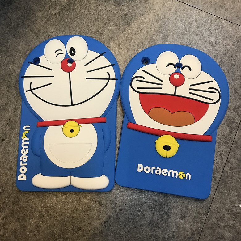 3D Laughing Doraemon Cartoon Anti-shock Silicone Full Cover Protective Case For iPad Mini 1/2/3 7.9 Body Shell Protection
