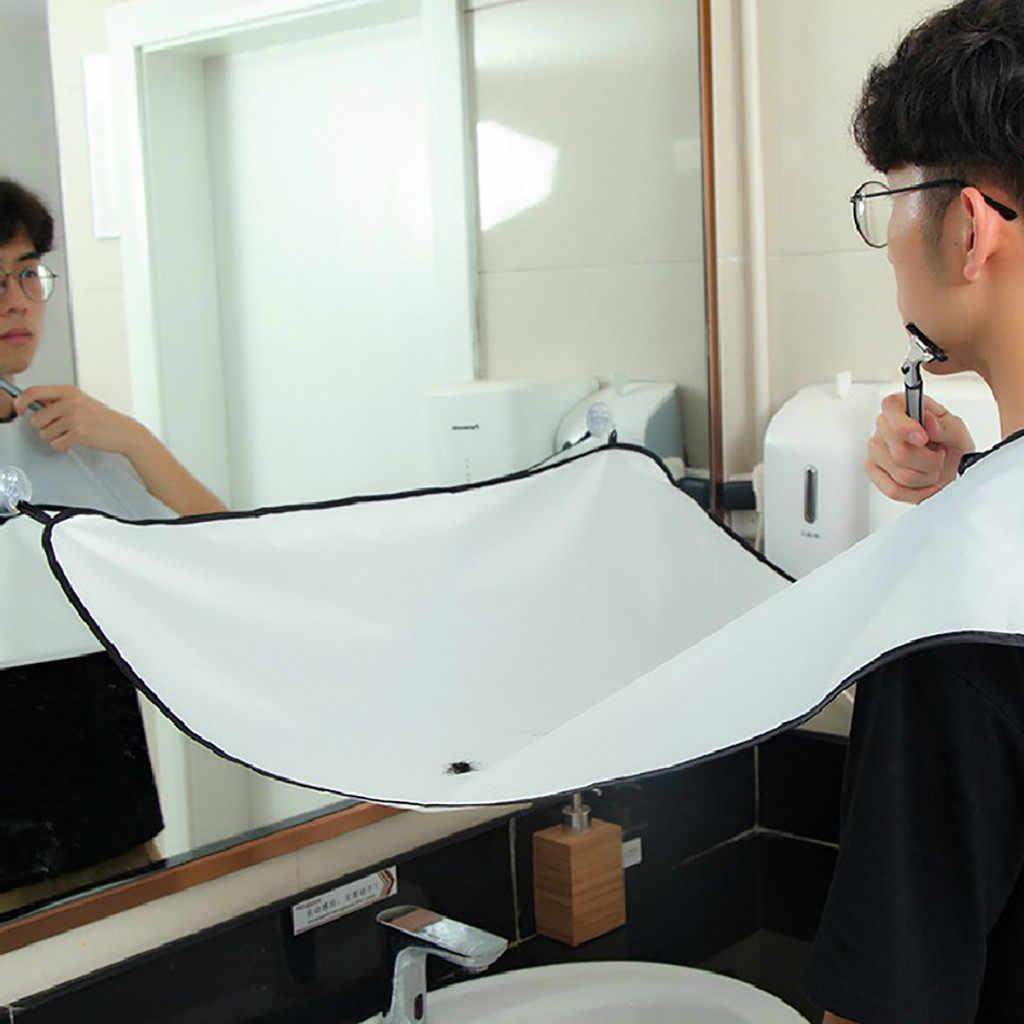 剃りエプロン無地男性家庭用浴室ひげトリミングエプロン毛剃りエプロンスタイリングツールホームサロンツール # Zer
