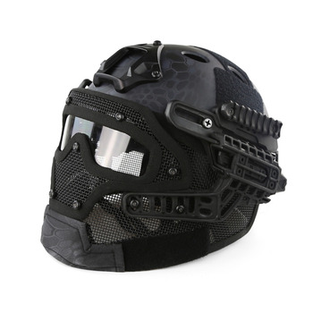 Airsoft Tactical Helmet Protective Fast Helmet ABS G4 System Set Paintball Mask with Goggles for Military Paintball War Game