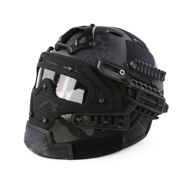 Tactical Helmet G4 System Set PJ Airsoft Helmet Overall