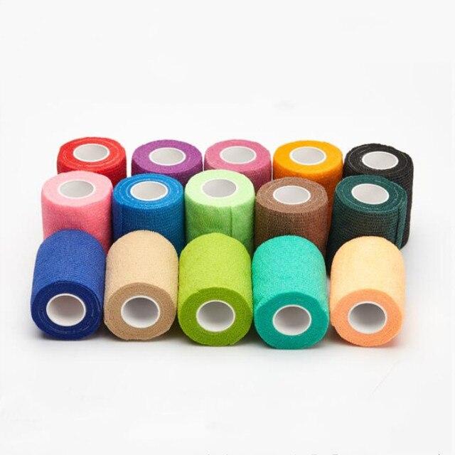 Cinta deportiva de 4,5 m, vendaje elástico autoadhesivo impermeable, cinta muscular para las articulaciones de los dedos, vendaje no tejido cohesivo