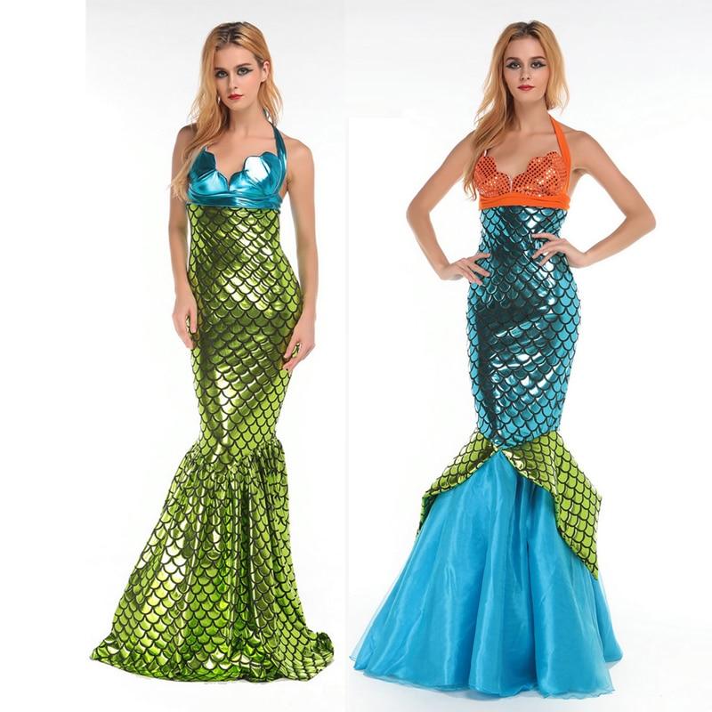 98201baabf Disfraces de Halloween para las mujeres sirena cola Cosplay carnaval party  Girls