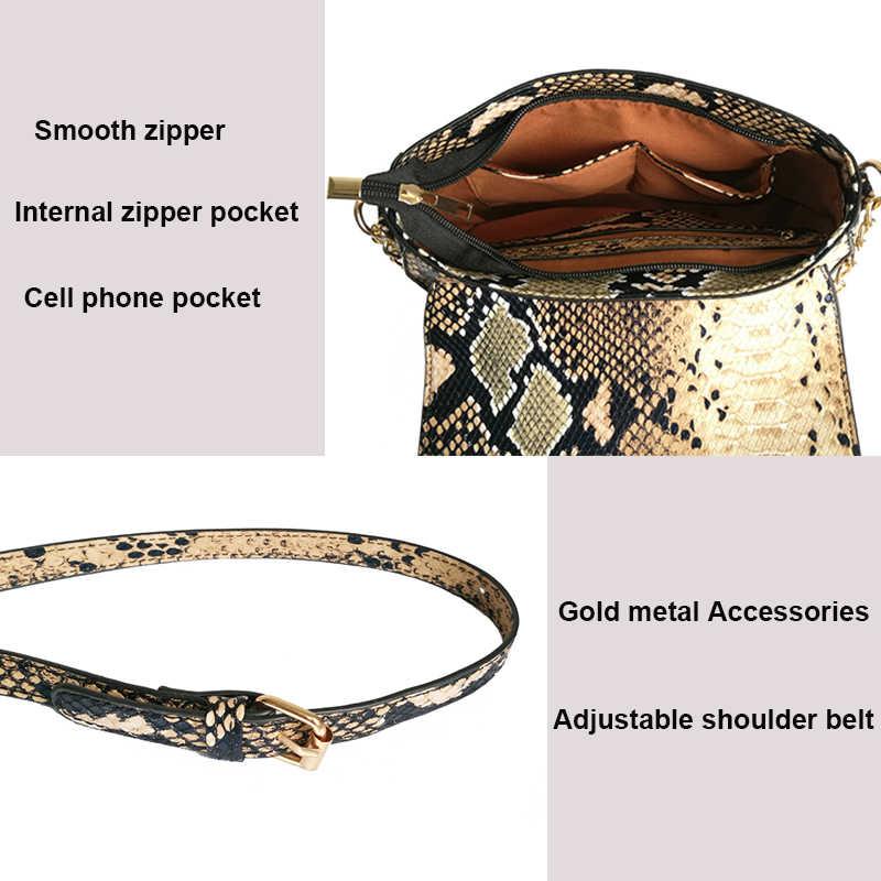 Mododiino Kleine Umhängetaschen Für Frauen Mode Schlange Pu Leder Frauen Tasche 2018 Neue Weibliche Messenger Taschen Über Schulter DNV0694