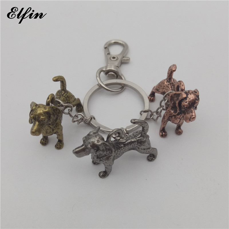 Elfin 2017 Trendy Beagle Key Chains Fashion Animal Pet Memorial Jewellery Beagle Key Rings
