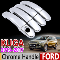 For Ford KUGA 2013 2017 MK2 Luxurious Chrome Handle Cover Trim Set Of 4Door 2014 2015