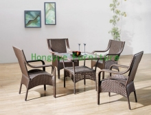 outdoor brown rattan garden furniture