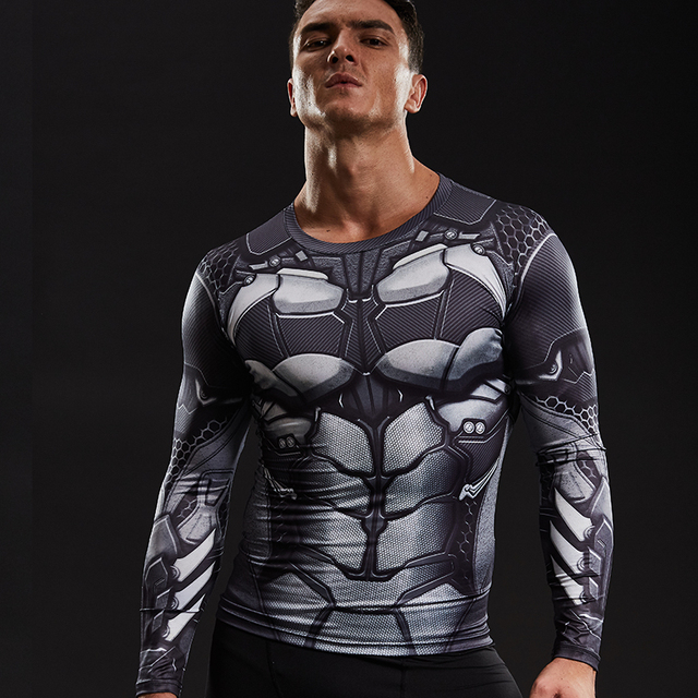 f8178cbce14d Batman 3D Printed T shirts Men Compression Shirt Comics Character Cosplay Long  Sleeve Tops Male Fitness BodyBuilding Clothing