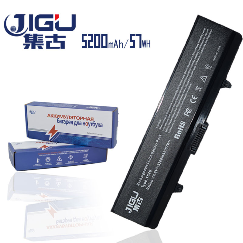 JIGU Replacement Laptop Battery 312-0625 C601H D608H GW240 XR693 M911G GP952 For Dell For Inspiron 1525 1526 1545 1440 1750 golooloo battery for dell inspiron 1525 1526 1545 1546 312 0626 312 0634 312 0633 312 0763 312 0844 451 10534 c601h cr693