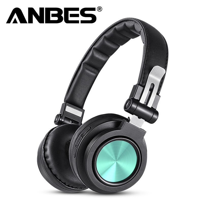 ANBES Bluetooth Wireless Headphones Stereo HIFI CD Headset Foldable Sport Handsfree Headphone with Microphone Gaming headsets zealot b20 stereo bluetooth headset hifi super bass wireless headphone handsfree with microphone for ios android phone