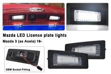Luz LED de matrícula para Mazda 3 (Axela) 2014 2018, para Mazda CX 3 2016 2017 2018, funciona con LED blanco de 18 SMD