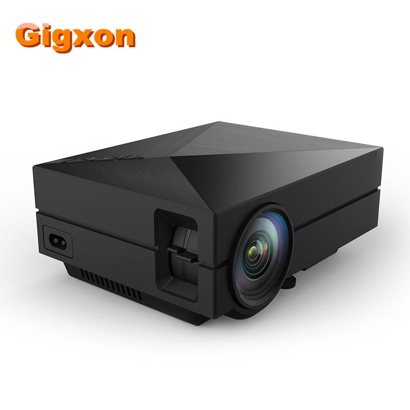 Gigxon - G60 Compatible Full HD Home Portable Projector GM60 Mini Pico proyector 3D 1080P VGA HDMI para cine en