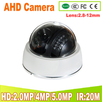 2.8 12MM 1080P 4MP 5MP CCTV AHD Camera Dome Security Camera with 24 IR Led Night Vision Surveillance Indoor Cam for 4MP AHD DVR