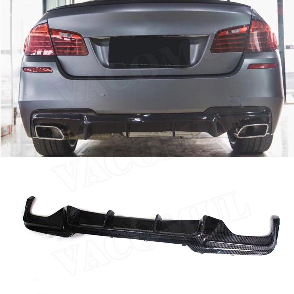 5 Series Carbon Fiber Rear Bumper Lip Diffuser for BMW F10 M Tech M Sport 528i 530i 535i 550i Sedan 12 16 FRP Car styling